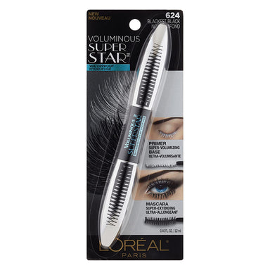 L'Oreal Paris Cosmetics Voluminous Superstar Waterproof Mascara, Blackest Black, 1 Tube