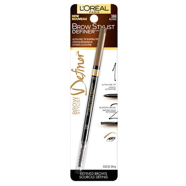 L'Oréal Paris Stylist Brow Definer, Skinny Brow Pencil, Blonde
