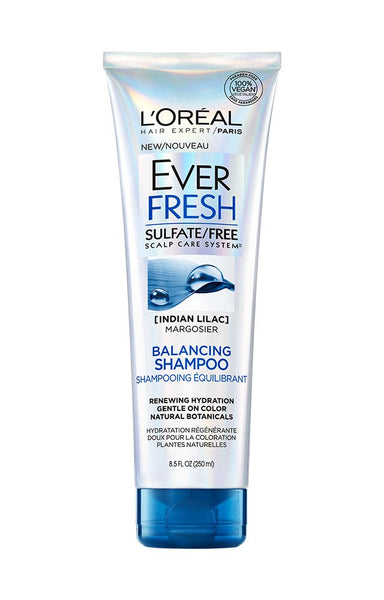 L'Oreal Paris Everfresh Balancing Shampoo with Indian Lilac (Neem Oil), 8.5 fl.oz.