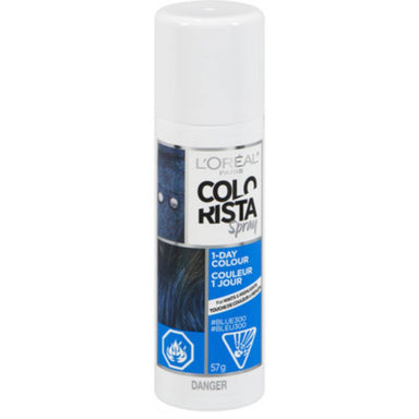 L'Oreal Paris Hair Color Colorista 1-Day Spray, Blue, 2 Ounce