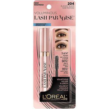 L'Oreal Paris Mascara Voluminous Lash Paradise, Blackest Black