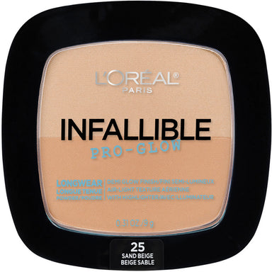 L'Oréal Paris Infallible Pro Glow Pressed Powder, Sand Beige