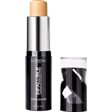 L'Oreal Paris Makeup Infallible Longwear Highlighter Shaping Stick, Up to 24hr Wear, Buildable Cream Highlighter Stick,