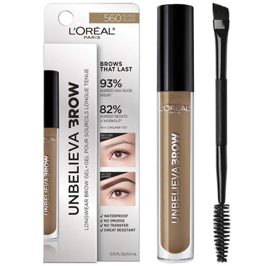 L'Oreal Paris Unbelievabrow Longwear Waterproof Brow Gel Blonde 560