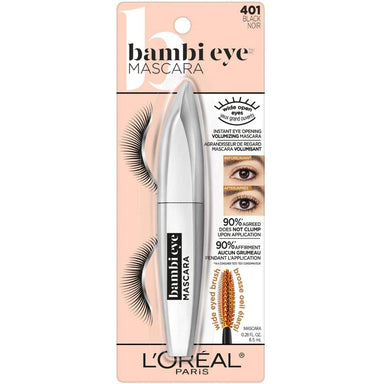 L'Oreal Paris Bambi Eye Washable Mascara, Black, 8 Milliliters