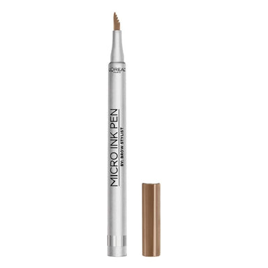 L'Oreal Paris Micro Ink Pen By Brow Stylist, Microblading Eyebrow Pen with Comb Tip, Up To 48H Waterproof Wear, Dark Blonde, 1 Grams