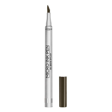 L'Oreal Paris Micro Ink Pen By Brow Stylist, Microblading Eyebrow Pen with Comb Tip, Up To 48H Waterproof Wear, Dark Brunette, 1 Grams