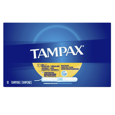 Tampax Tampons with Flushable Applicator, Regular Absorbancy - 10 ct
