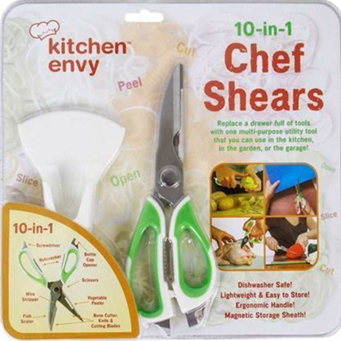 "Chef Shears – The 10 in 1 Tool, 9"", Green/White"
