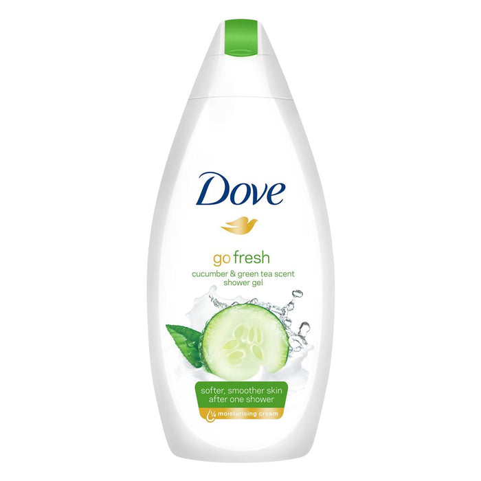 Dove Body Wash, Cucumber & Green Tea, 500 ml