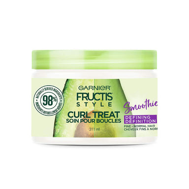 Garnier Fructis Style Curl Treat Smoothie Defining Leave-in Styler, 10.5 fl oz