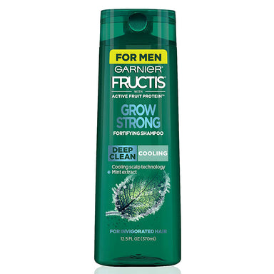 Garnier Fructis Grow Strong Cooling Deep Clean Shampoo for Men, for Invigorated Hair, 370 ml