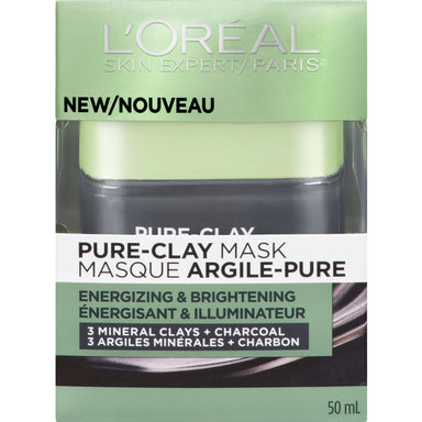 L'Oreal Paris Pure-Clay Mask, Energizing & Brightening, 50 ml