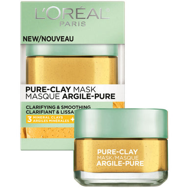 L'Oreal Paris Pure Clay Mask, Clarifying & Smoothing, 50 ml