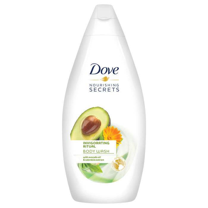 Dove Invigorating Ritual Body Wash, Avocado Oil, 500 ml