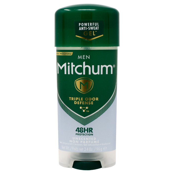 Mitchum 48 hour Anti-Sweat Protection Gel for Men, Unscented 3.4oz