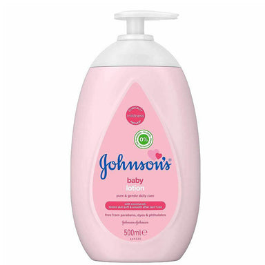 Johnson'S Baby 500Ml Lotion Pure & Gentle W/ Coconut Oil Pump