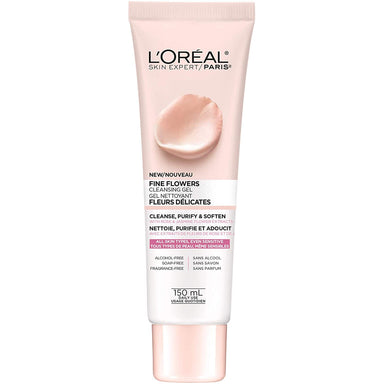 L'Oréal Paris Face Wash Fine Flowers Cleansing Gel with Rose & Jasmine Flower Extracts, 150 ml