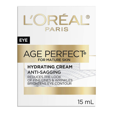 L'Oréal Paris Eye Cream Age Perfect Anti-Sagging with Soy and Ceramide, 15 ml