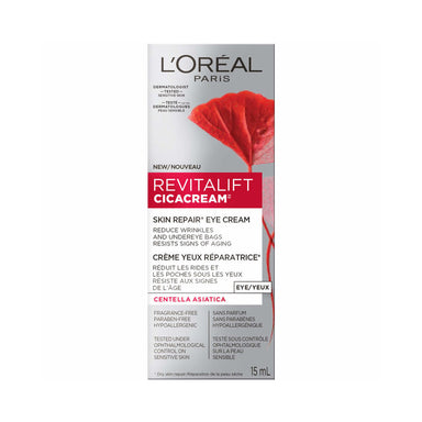 L'Oreal Revitalift Cicacream Eye Cream Anti-Aging, with Centella Asiatica & Pro-Retinol