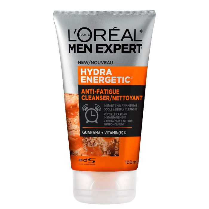 L'Oreal Paris Men Expert Face Wash for Men With Vitamin C + Guarana| Hydra Energetic, 100 Ml, 100 Milliliters