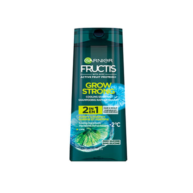 Garnier Fructis Grow Strong Cooling Shampoo, 2 in 1 Hair & Scalp, 250ml