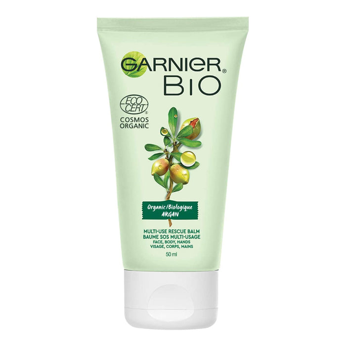 Garnier Bio Organic Argan Multi-Use Rescue Face Balm for Dry and Sensitive Skin, 50 Milliliters