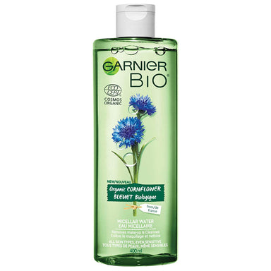 Garnier Bio Organic Cornflower Micellar Cleansing Water for All Skin Types Even Sensitive, 400 Milliliters