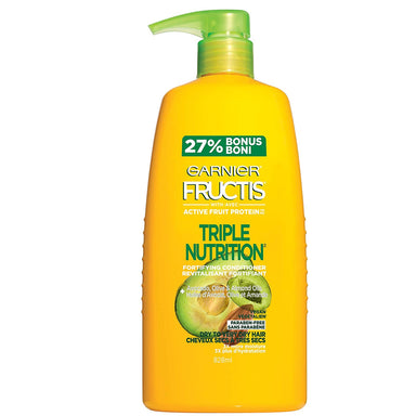 Garnier Fructis triple nutrition fortifying conditioner with avocado, olive & almond oils, 792ml
