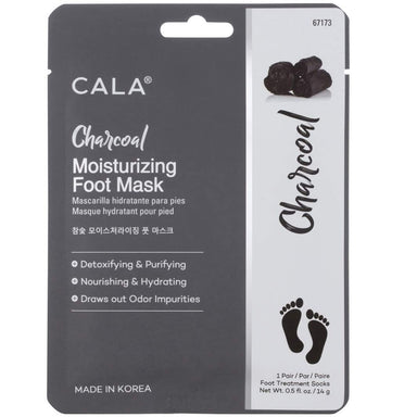 Cala Charcoal moisturizing foot masks 3 count, 3 Count