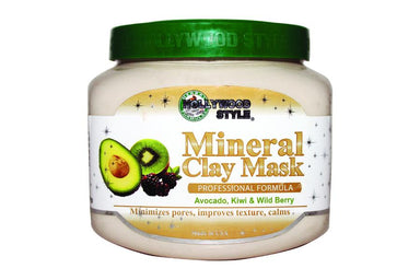 Hollywood Style Mineral Clay Mask, Avocado, Kiwi & Wild Berry, 20 oz