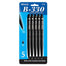 Bazic #1770 B-330 Black Color Retractable Pen 5Pk