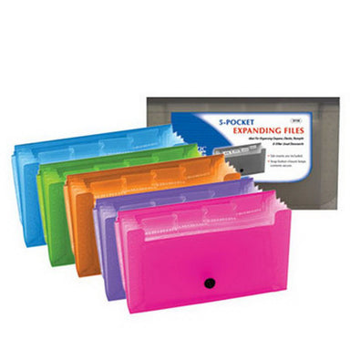 Bazic Pockets Coupon/Personal Check Size Expanding File 1Pk