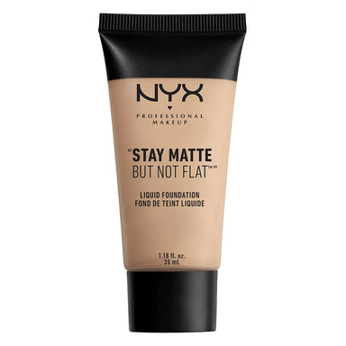 NYX PROFESSIONAL MAKEUP Stay Matte But Not Flat Liquid Foundation, Nude Beige, 1.18 Ounce