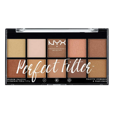 NYX Professional Makeup Perfect filter Shadow Palette, Golden Hour 0.6 Ounce, 1 Count