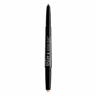 NYX Professional Makeup Sculpt & Highlight Brow Contour, Light Beige/espresso, 1 count