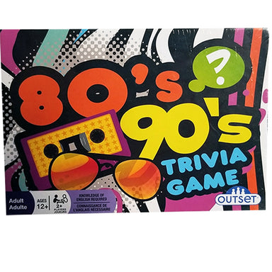 New 80's 90's Trivia Game - Retro Party Game