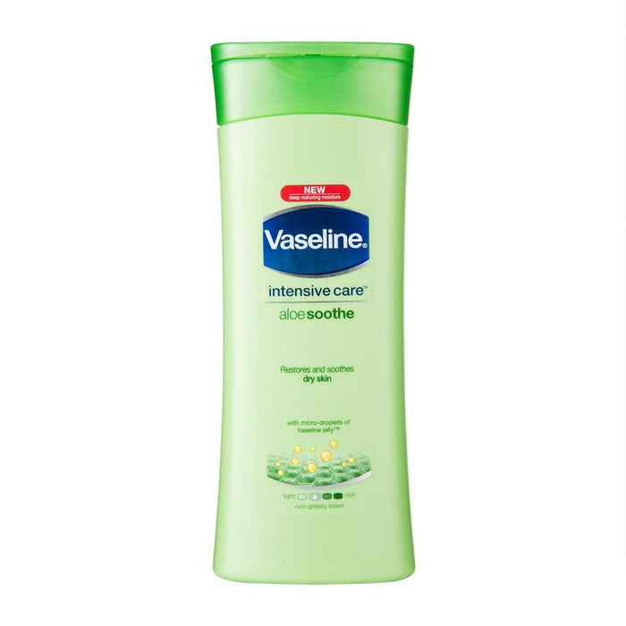 Body Lotion - Vaseline Intensive Care Lotion, Aloe Soothe, 400 Ml