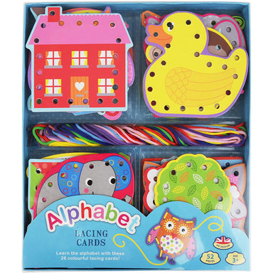 Barney & Buddy Alphabet Lacing Card Set