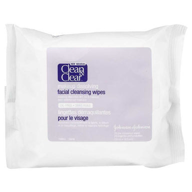 Clean & Clear Oil-Free Makeup Dissolving Wipes, 25 Count