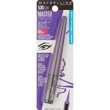 Eye Liner - Maybelline New York Master Precise Ink Metallic Liquid Liner, Cosmic Purple, 0.06 Fluid Ounce