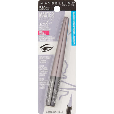 Eye Liner - Maybelline New York Master Precise Ink Metallic Liquid Liner, Violet Nova, 0.06 Fluid Ounce