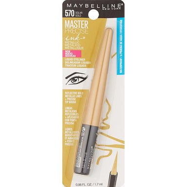 Eyeliner - Maybelline New York Master Precise Ink Metallic Liquid Liner, Solar Gold