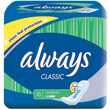 Feminine Care - Always Classic Pads, Standard, 10-Count