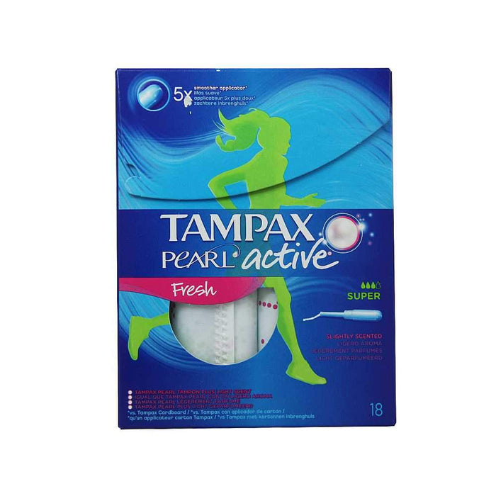 Feminine Care - Tampax Pearl Active Tampons, Fresh, Super, 18-Count
