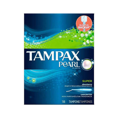 Feminine Care - Tampax Pearl Unscented Tampons, Super, 18-Count