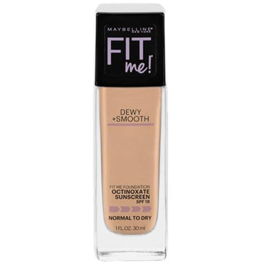 Foundation - Maybelline Fit Me Dewy + Smooth Foundation - 220 Natural Beige - 1 Fl Oz