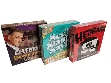 Bundle Of Games. Celebrity Name Game, See It Slam It Say it, Headbanz,