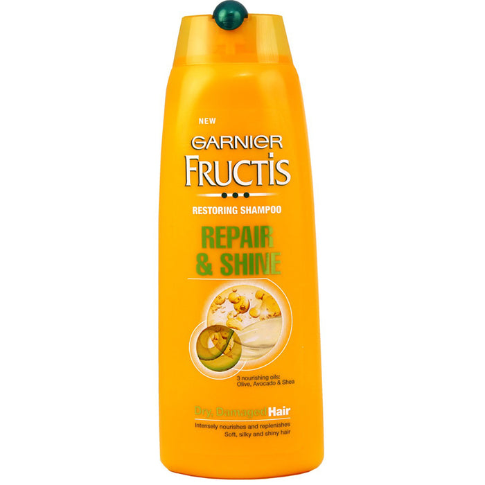 Garnier Fructis Repair and Shine, Restoring Shampoo, Olive Avocado and Shea Oils, 250 ml