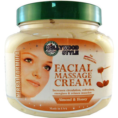 Hollywood Style Facial Massage Cream with Almond & Honey